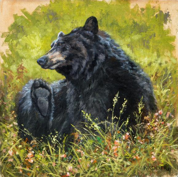 Black Bear, Bear, Bear Painting, Black Bear Art, Bear Art, Nature Art,  Leslie Kirchner
