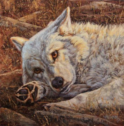 Acrtic Wolf, wolf, grey wolf, wolves, wolf art, arctic wolf art, nature art, nature artwork, nature paintings, western art, western artwork, western wildlife paintings, leslie kirchner, wolf painting, wolf art. arctic wolf art, arctic wolf painting, leslie kirchner art