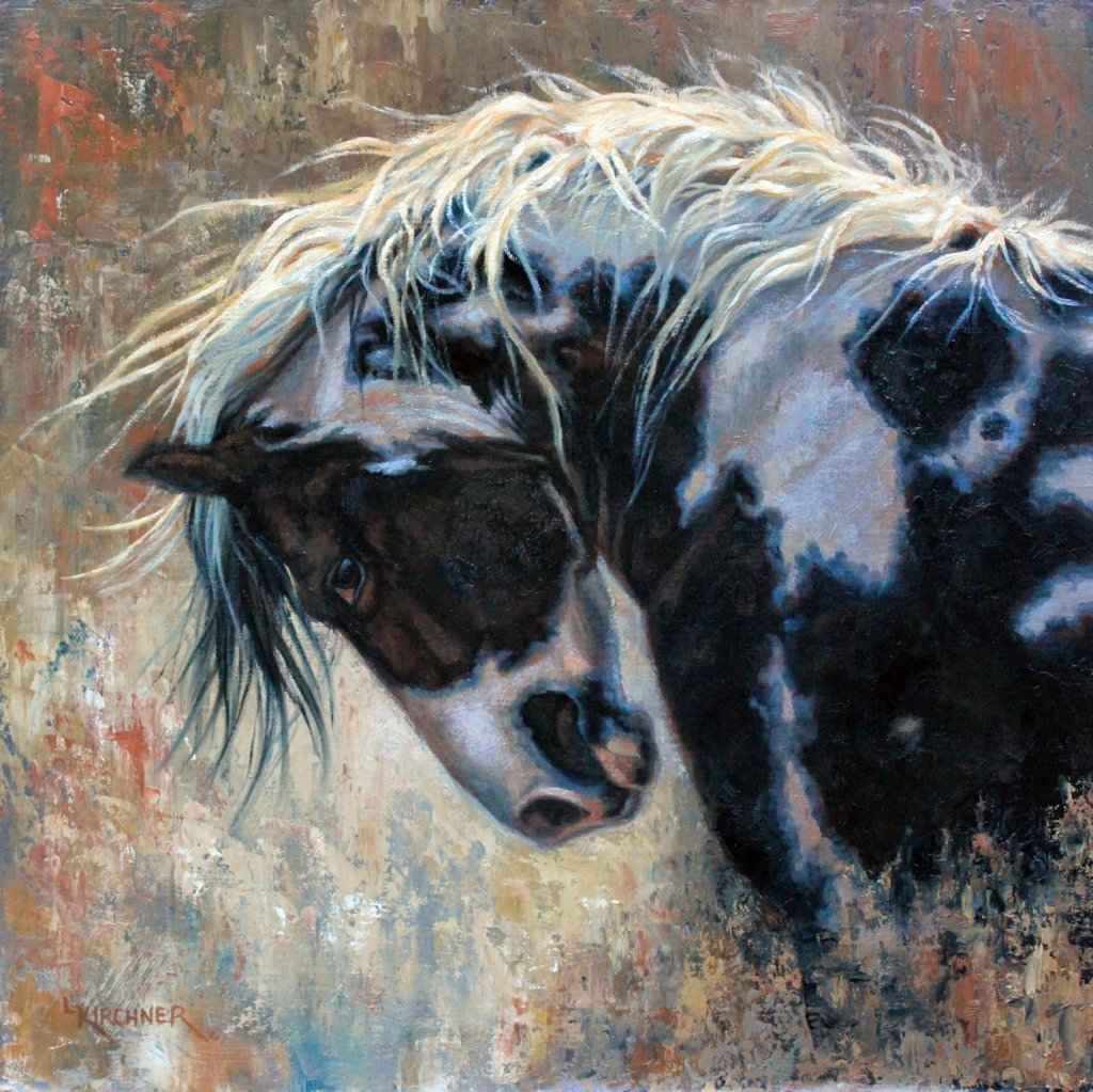 Leslie Kirchne, leslie kirchner art, leslie kirchner artist, western art, western artist, nature art, nature artist, wildlife art, wildlife artist, horse art, horse, homozygous, , paint horse, paint horse art, horse artwork, horse painting, black and white paint horse